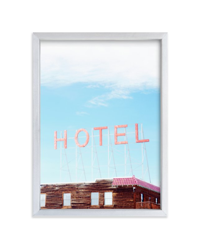 """Hotel"" - Limited Edition Art Print by Jamie Lollback in beautiful frame options and a variety of sizes."