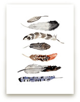 Feather Print by Shannon Kirsten