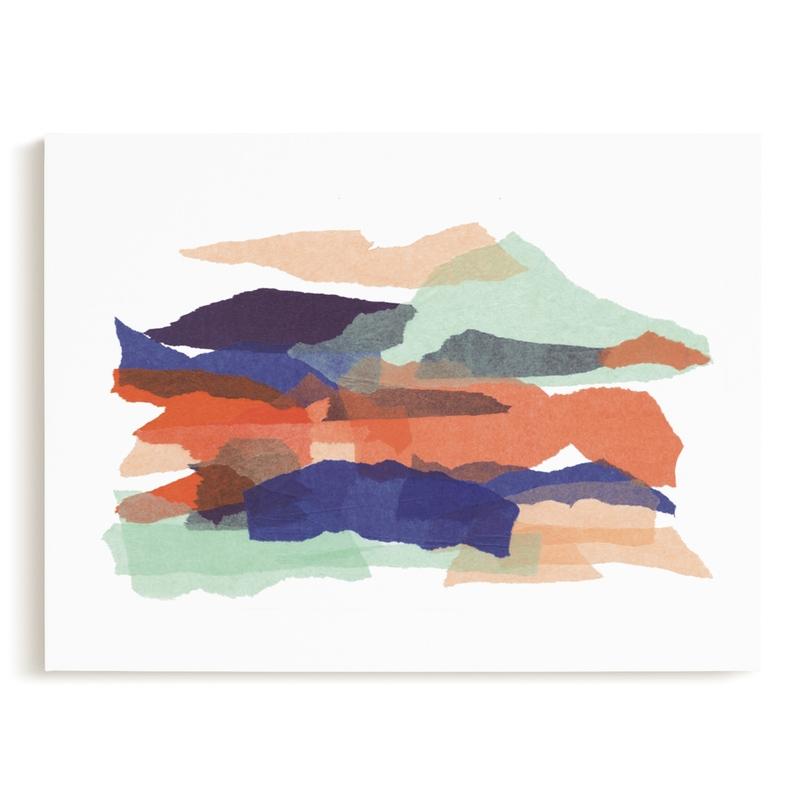 mountain sunset one Art Print
