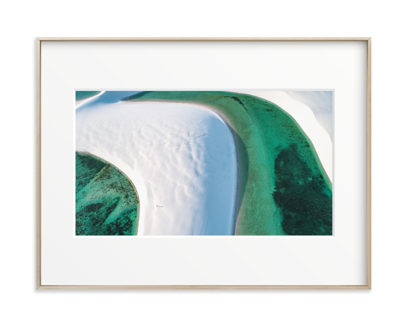 The Emerald Lagoon Art Print