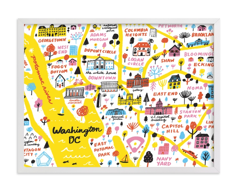 """I Love Washington D.C."" - Limited Edition Art Print by Jordan Sondler in beautiful frame options and a variety of sizes."