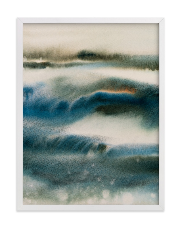 """""""Blue Embrace / Sky over Ocean"""" - Limited Edition Art Print by Marta Spendowska in beautiful frame options and a variety of sizes."""