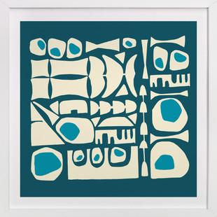 Blue Tiki Art Print
