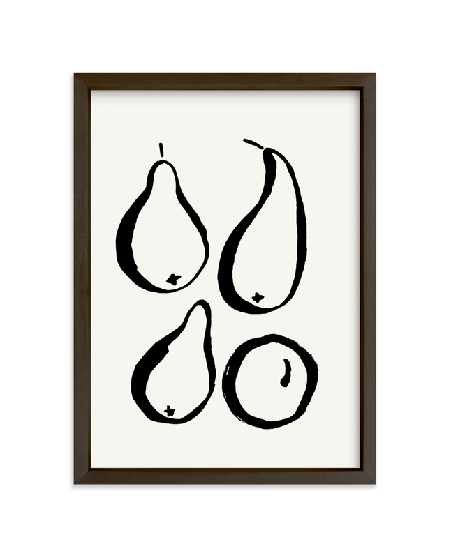 """""""Still-life with four pears"""" - Limited Edition Art Print by Sonya Percival in beautiful frame options and a variety of sizes."""