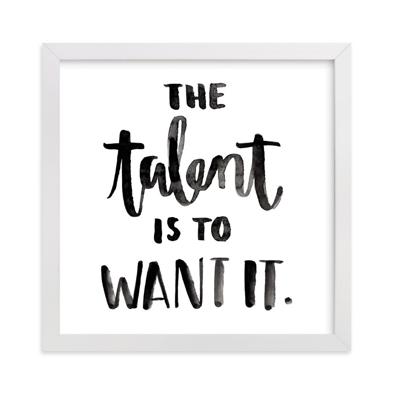 """""""The Talent"""" - Limited Edition Art Print by Briana Goad in beautiful frame options and a variety of sizes."""