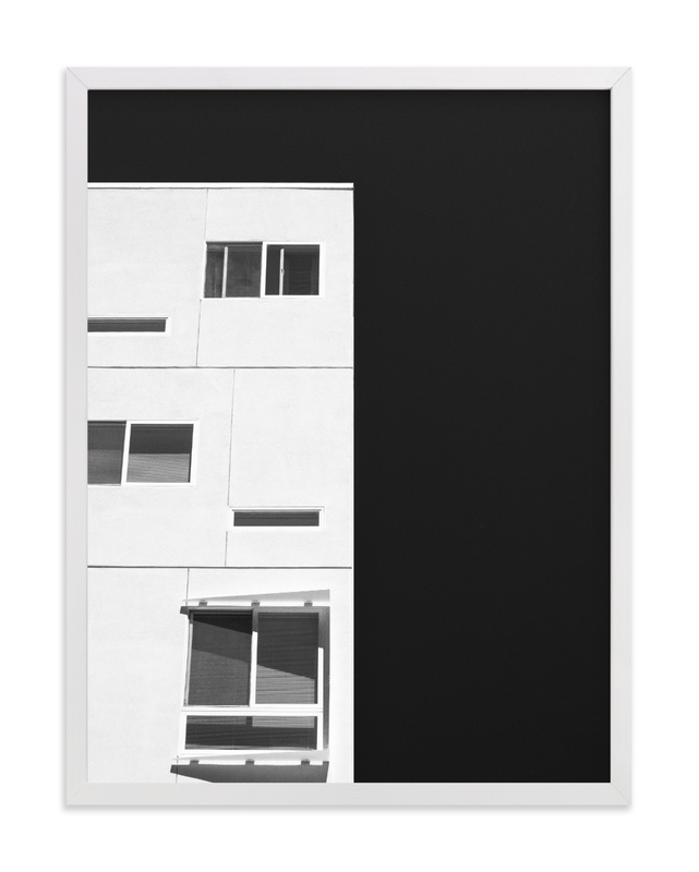 This is a black and white art by Kamala Nahas called rectangle with me.
