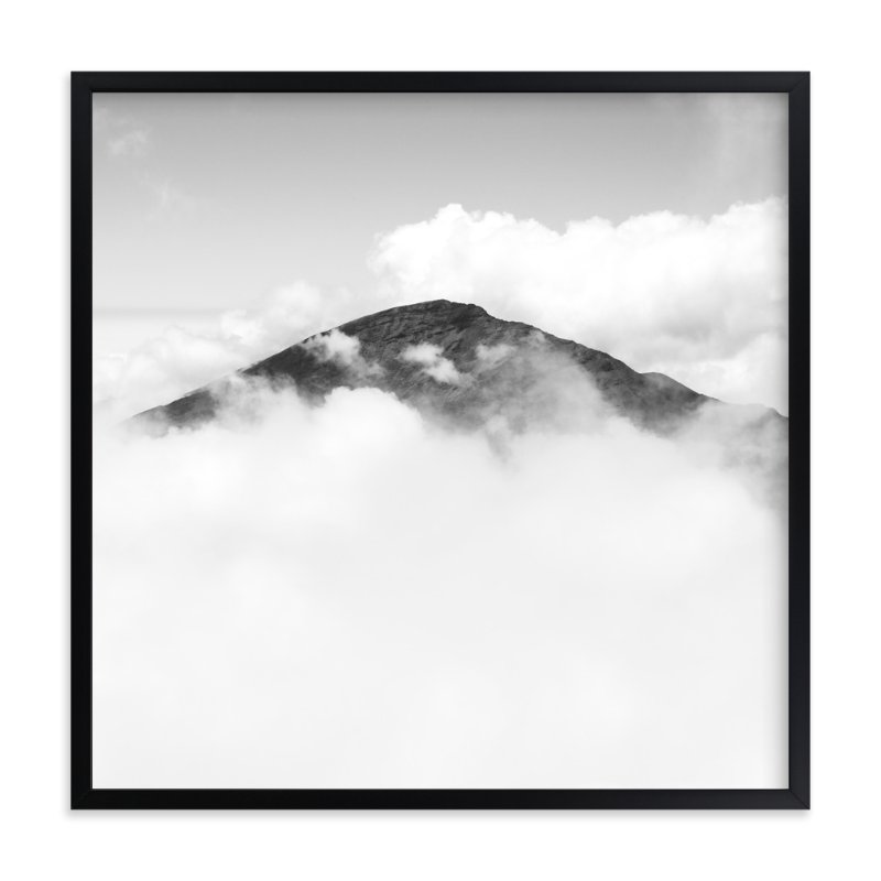 """""""Volcano Hidden in the Clouds 3"""" - Limited Edition Art Print by Mary Ann Glynn-Tusa in beautiful frame options and a variety of sizes."""