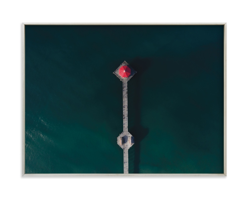 """HB Pier From Above"" - Limited Edition Art Print by Christian Florin in beautiful frame options and a variety of sizes."