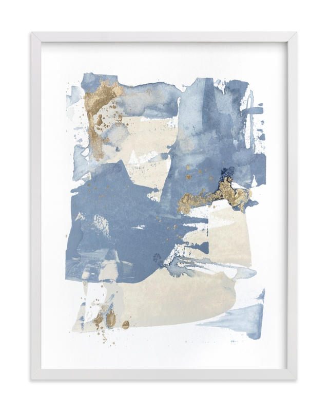 This is a blue art by Julia Contacessi called On the Rocks No. 2.