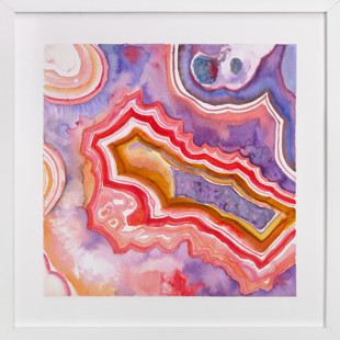 Abstract Agate Art Print