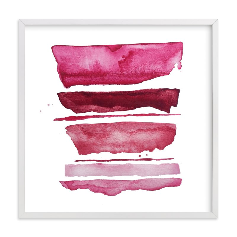 """""""of land and sea_ pink refraction"""" - Limited Edition Art Print by Kiana Mosley in beautiful frame options and a variety of sizes."""