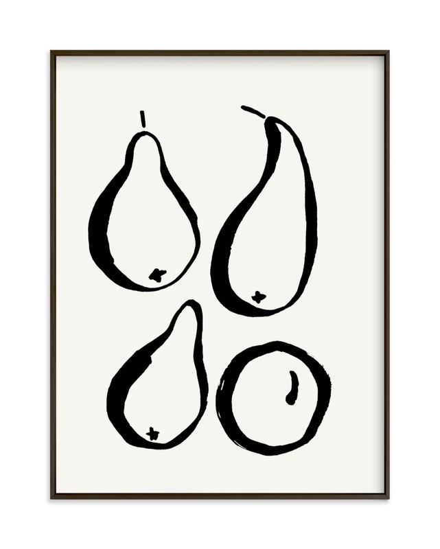 """Still-life with four pears"" - Limited Edition Art Print by Sonya Percival in beautiful frame options and a variety of sizes."