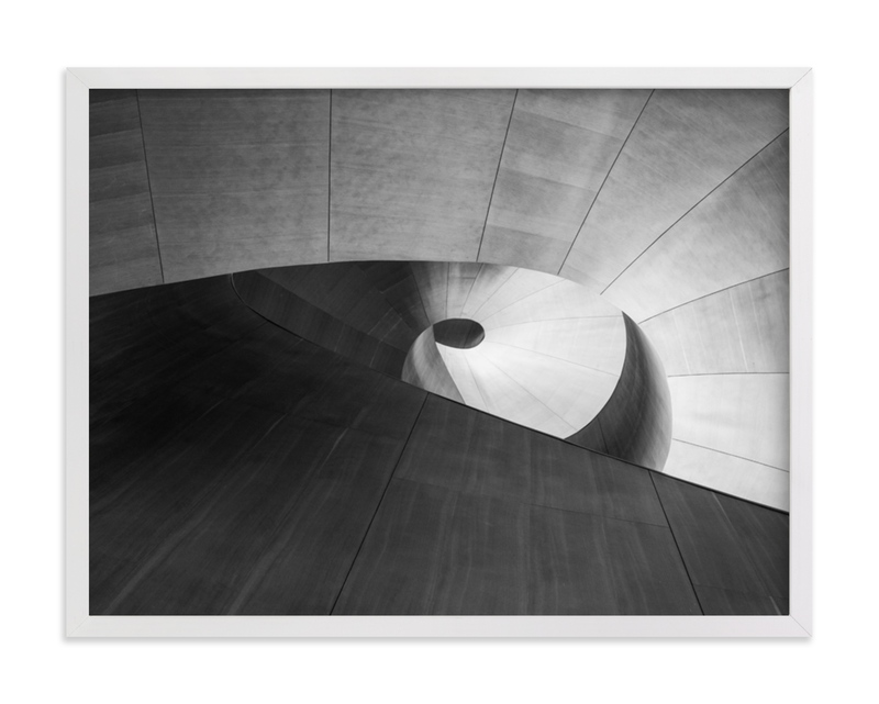 This is a black and white art by van tsao called study the pi with standard.
