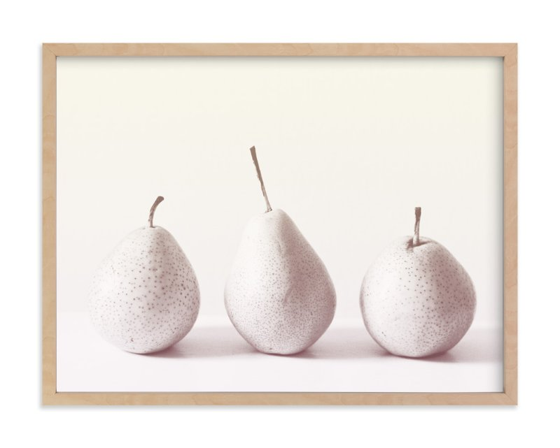 """Three Little Pears"" - Limited Edition Art Print by Ashley Flynn in beautiful frame options and a variety of sizes."