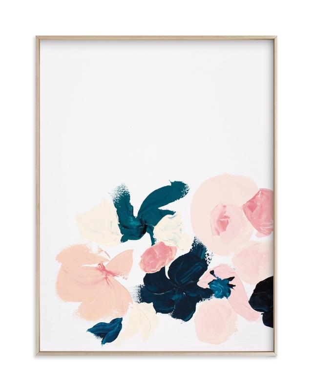 January Botanical Abstract Print Art Print