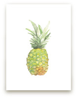 Watercolor Piña by Lily Hanna