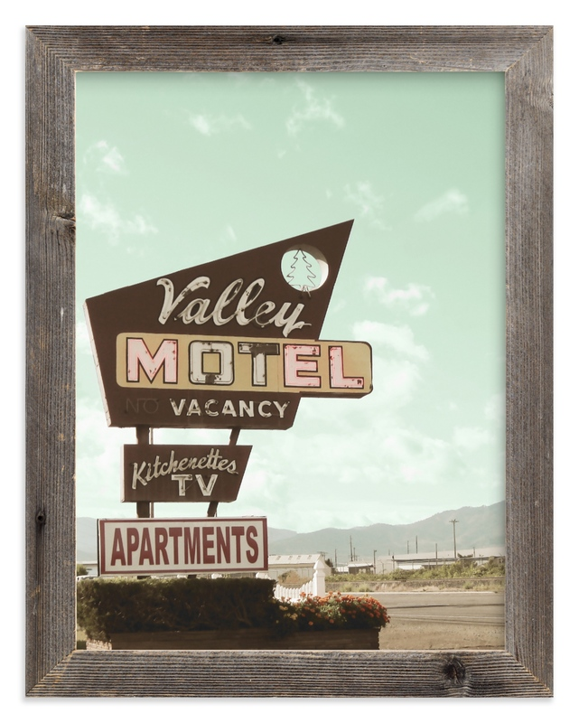 """Valley Motel"" - Limited Edition Art Print by Elky Ink in beautiful frame options and a variety of sizes."