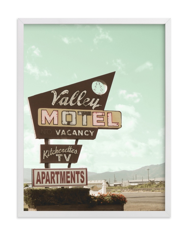 This is a brown art by Elky Ink called Valley Motel.