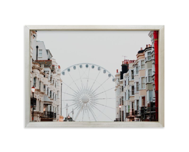 """Down the Street"" - Limited Edition Art Print by Annie Montgomery in beautiful frame options and a variety of sizes."