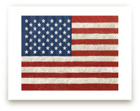 Rustic American Flag by Amy Marsh