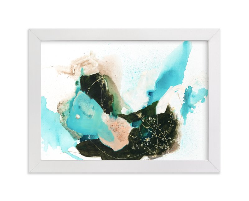 """Flora in Motion"" - Limited Edition Art Print by Sarah McInroe in beautiful frame options and a variety of sizes."