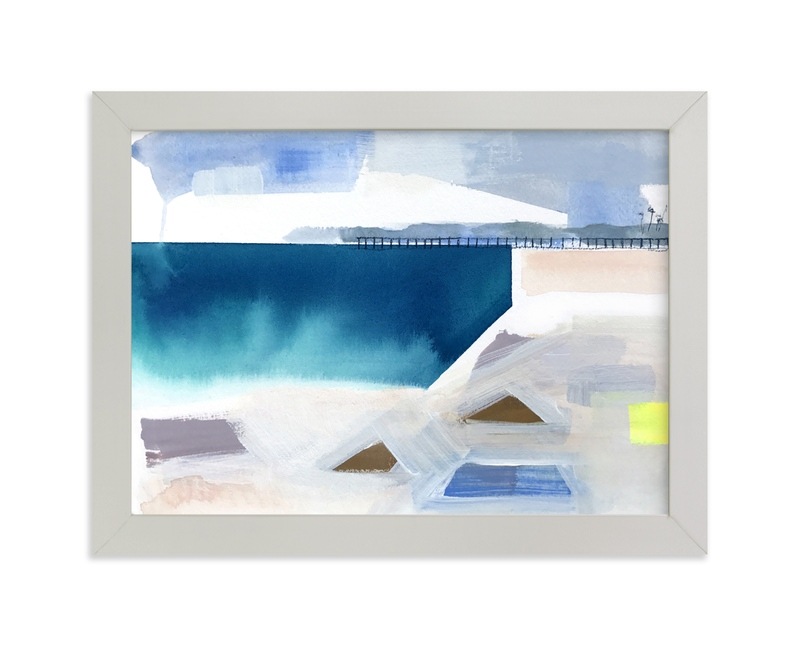 """Geometric beach"" - Limited Edition Art Print by Kristine Brookshire in beautiful frame options and a variety of sizes."
