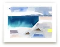 Geometric beach by Kristine Brookshire