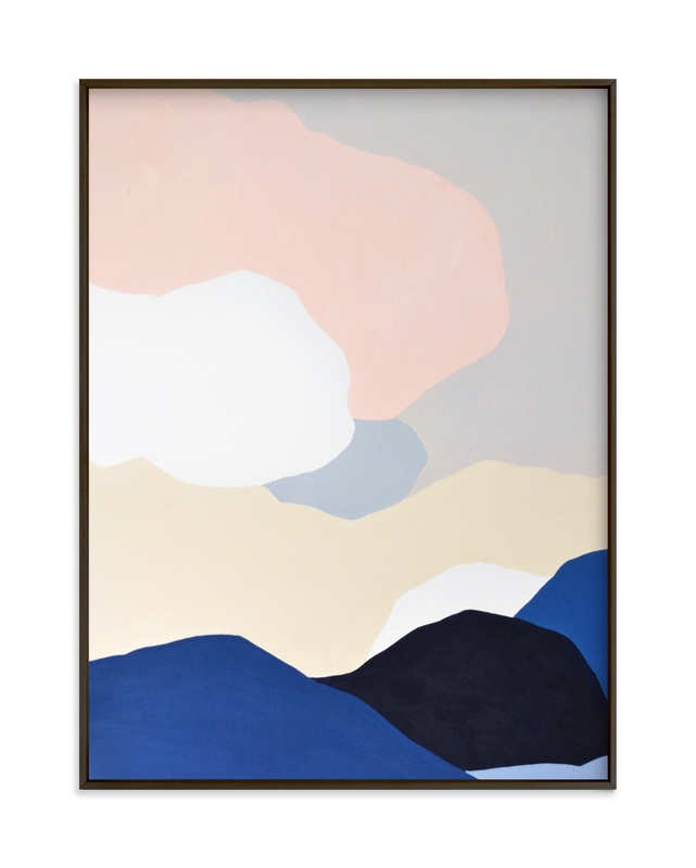 """""""Blue Mountains"""" - Limited Edition Art Print by Jennifer Hallock in beautiful frame options and a variety of sizes."""