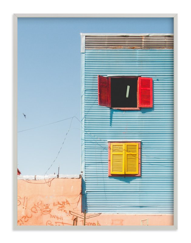 """""""La Boca shapes, Buenos Aires"""" - Limited Edition Art Print by Jacquelyn Sloane Siklos in beautiful frame options and a variety of sizes."""