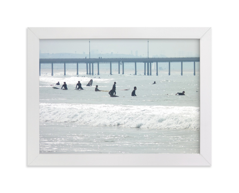 """""""Waiting, Venice Pier"""" - Limited Edition Art Print by Annie Seaton in beautiful frame options and a variety of sizes."""
