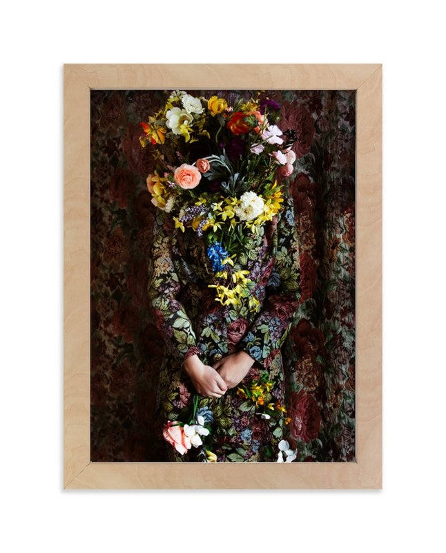 """""""Shes Blooming"""" - Limited Edition Art Print by Theresa Bear in beautiful frame options and a variety of sizes."""