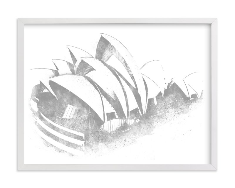 This is a grey art by Paul Berthelot called Sydney Opera House.