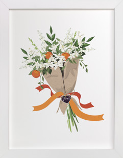 Florida Orange Blossom Bouquet Art Print
