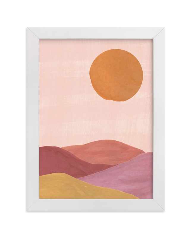 """Sand mountains"" - Limited Edition Art Print by Annie Shapiro in beautiful frame options and a variety of sizes."