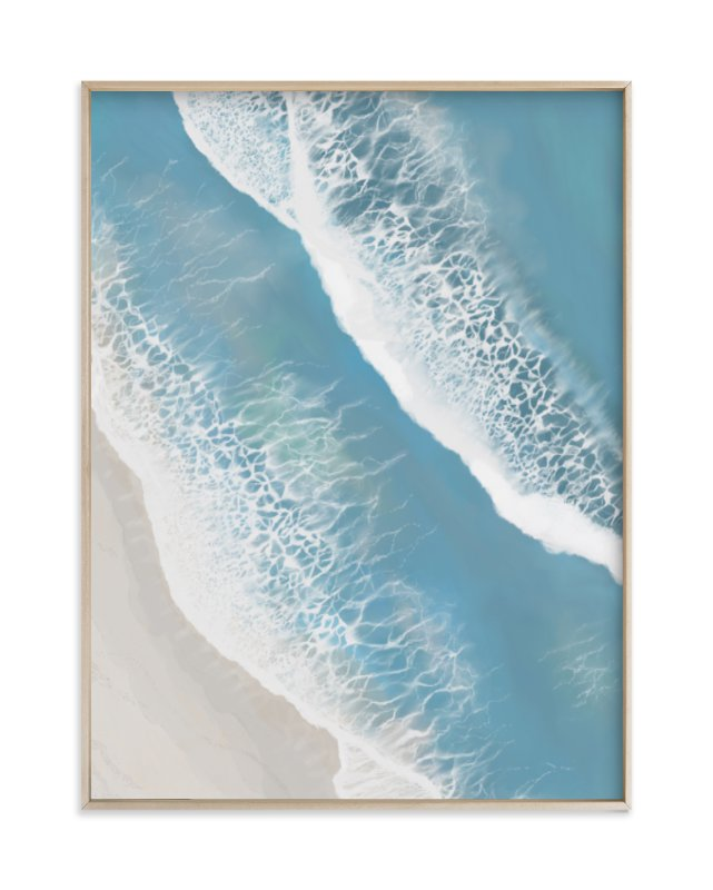 """Foam From Above"" - Limited Edition Art Print by Melanie Sutherland in beautiful frame options and a variety of sizes."