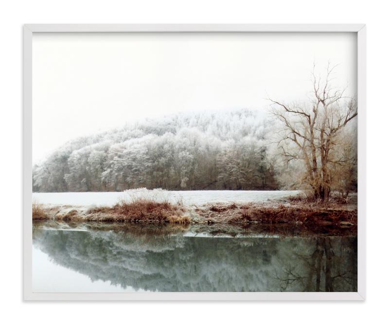 The River laid dreaming Art Print
