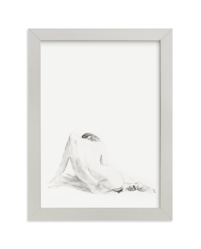 """""""Nude Study"""" - Limited Edition Art Print by Ramnik Velji in beautiful frame options and a variety of sizes."""