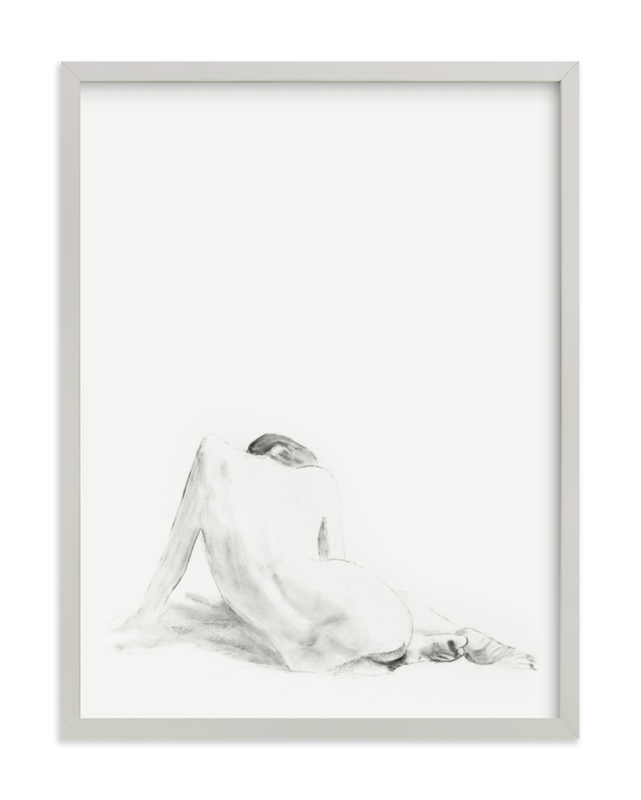 """Nude Study"" - Limited Edition Art Print by Ramnik Velji in beautiful frame options and a variety of sizes."