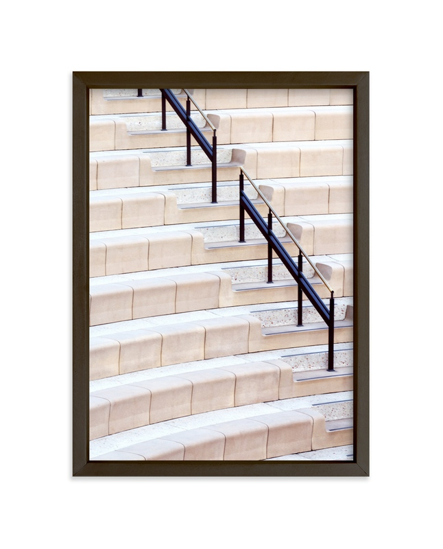 """Stairs of the Getty 2"" - Limited Edition Art Print by Lisa Sundin in beautiful frame options and a variety of sizes."