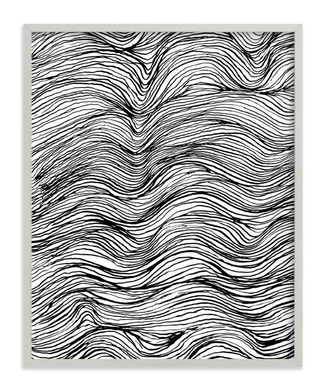 Ebb And Flow Ink Lines Wall Art Prints By Elliot Stokes