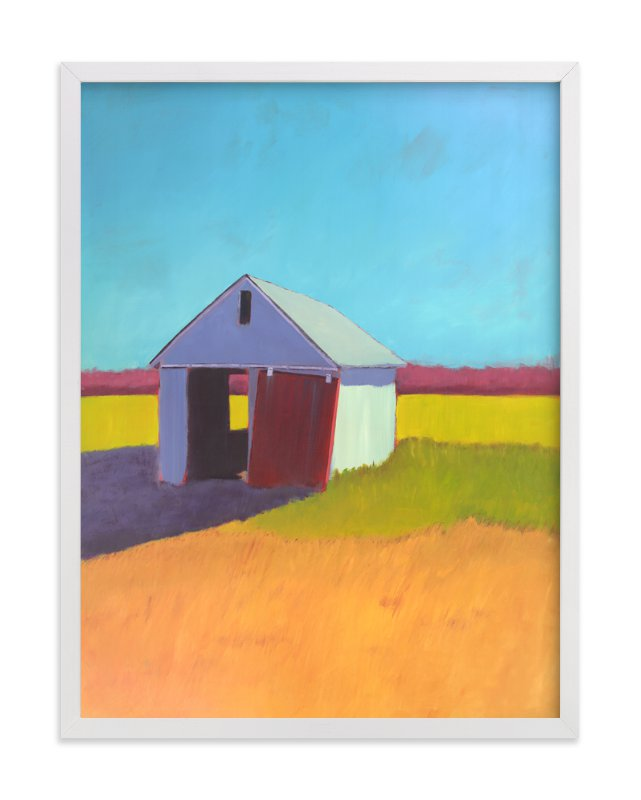"""""""Pumpkin Shed"""" - Limited Edition Art Print by Carol C. Young in beautiful frame options and a variety of sizes."""