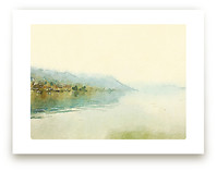 Misty lake