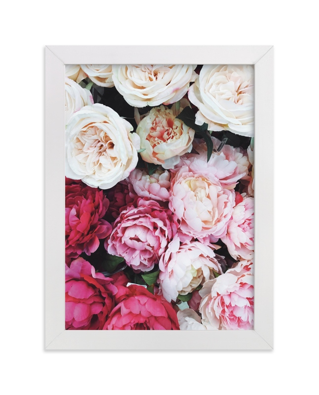 """""""peony palette"""" - Limited Edition Art Print by Marabou Design in beautiful frame options and a variety of sizes."""