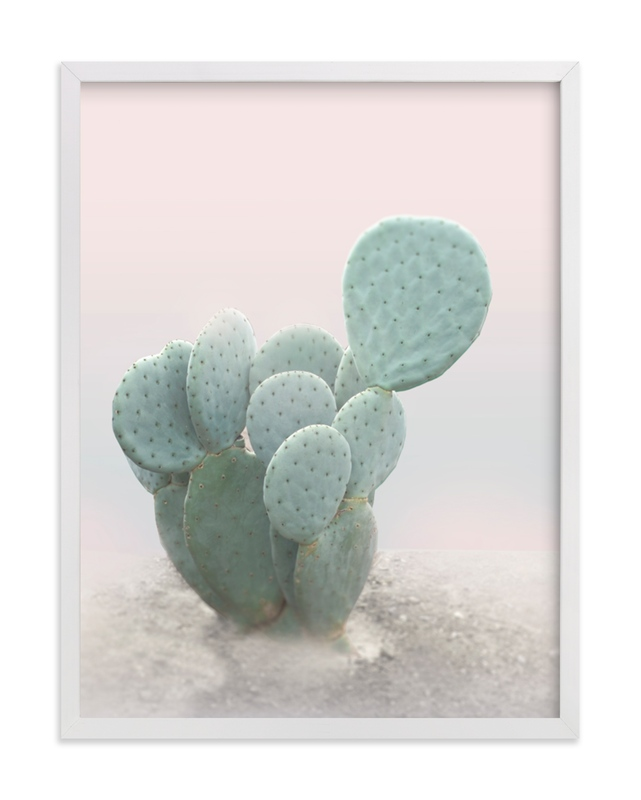 This is a grey art by Wilder California called Little Cactus.