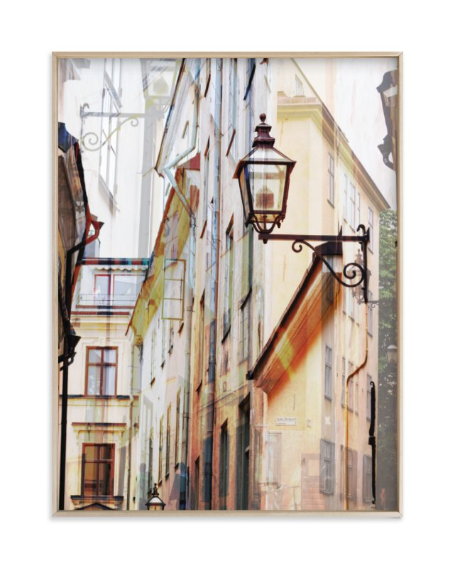 """""""Narrow streets of open Gamla Stan"""" - Limited Edition Art Print by Bethania Lima in beautiful frame options and a variety of sizes."""