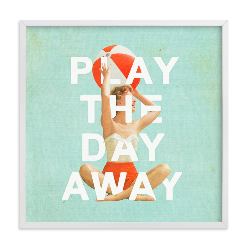 """""""Play The Day Away"""" - Limited Edition Art Print by Heather Landis in beautiful frame options and a variety of sizes."""