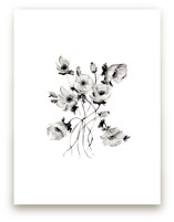 Greyscale Poppies by Shannon Kirsten