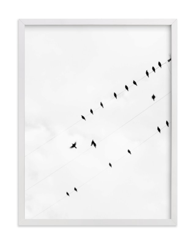 """Birds on a Wire"" - Limited Edition Art Print by Angela Thompson in beautiful frame options and a variety of sizes."