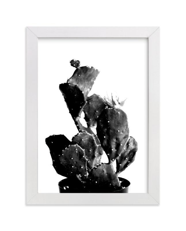 """""""black cactus"""" - Limited Edition Art Print by Baumbirdy in beautiful frame options and a variety of sizes."""