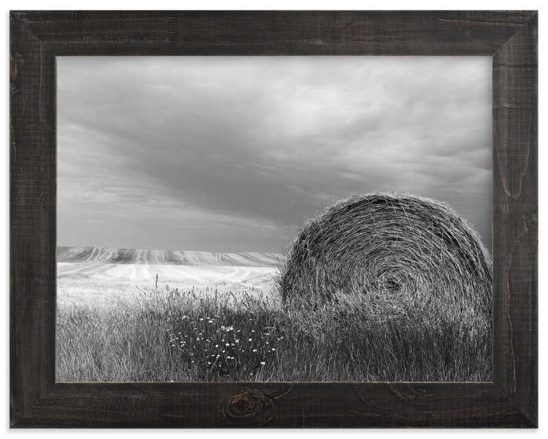 """Hay Bales"" - Limited Edition Art Print by Elan Alvarez Sherman in beautiful frame options and a variety of sizes."